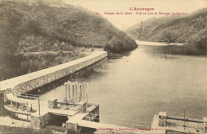 Les barrages en Auvergne