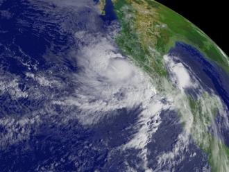 Image satellite de la tempête tropicale Andres (Sipa)