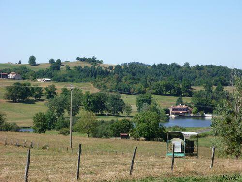Les 2 étangs : à gauche le petit, à droite le grand