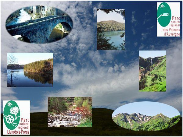 Nuages parcs naturels régionals eauvergnat