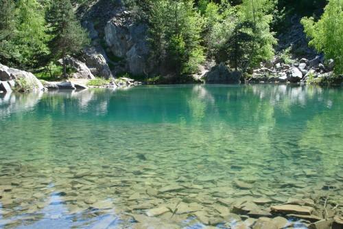 Le lac bleu de Champclause