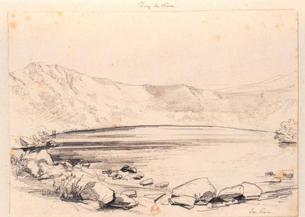 lac pavin dessin XIX ème siècle