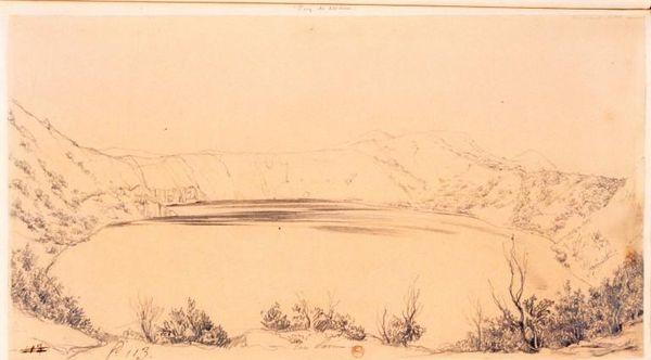 lac pavin dessin XVIII ème siècle