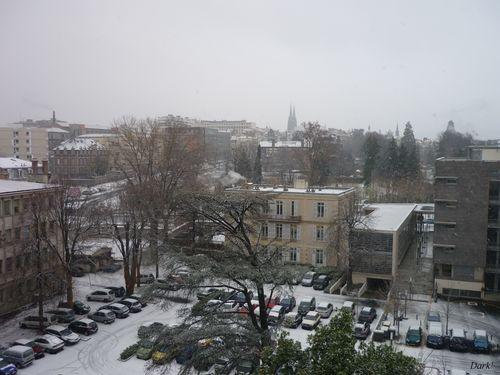 Neige 14 décembre cathédrale Université d'Auvergne
