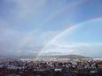 Double arc en ciel au dessus de Clermont-Ferrand