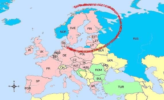 Dietrich Buxtehude : Œuvres vocales Baltique-carte-europe