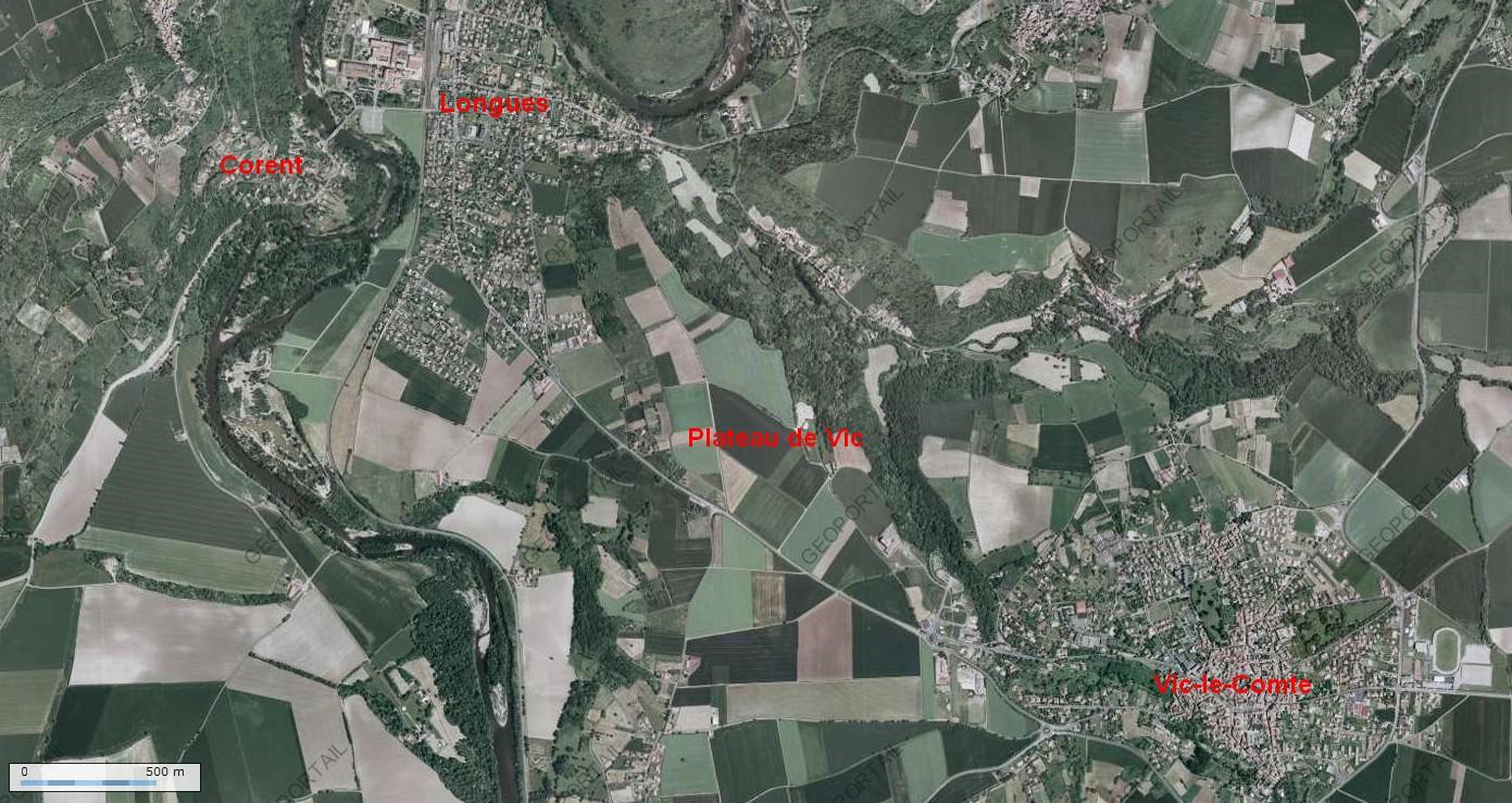 Le Plateau de Vic-le-Comte (cliquez pour agrandir l'image)