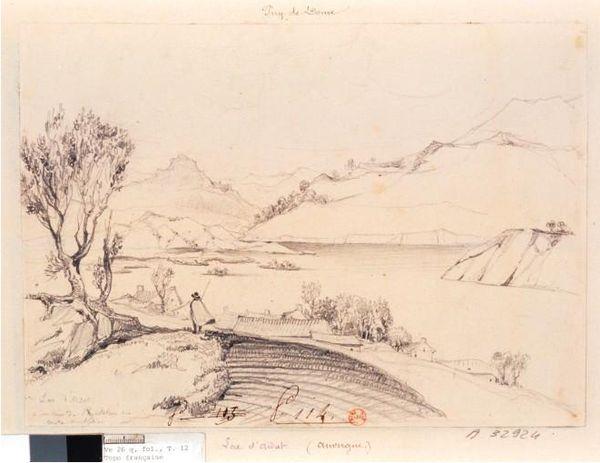 dessin lac d'Aidat
