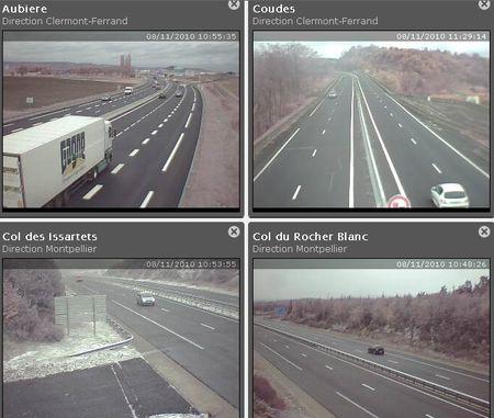 webcam route massif central
