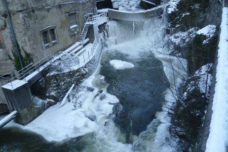 Photos de rivières gelées en Auvergne