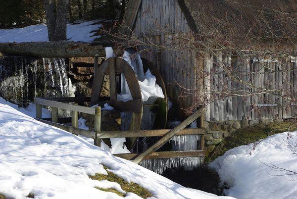 Le moulin de Murat Le Quaire neige glace (1)