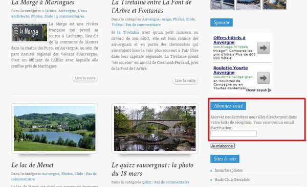 Newsletter eauvergnat
