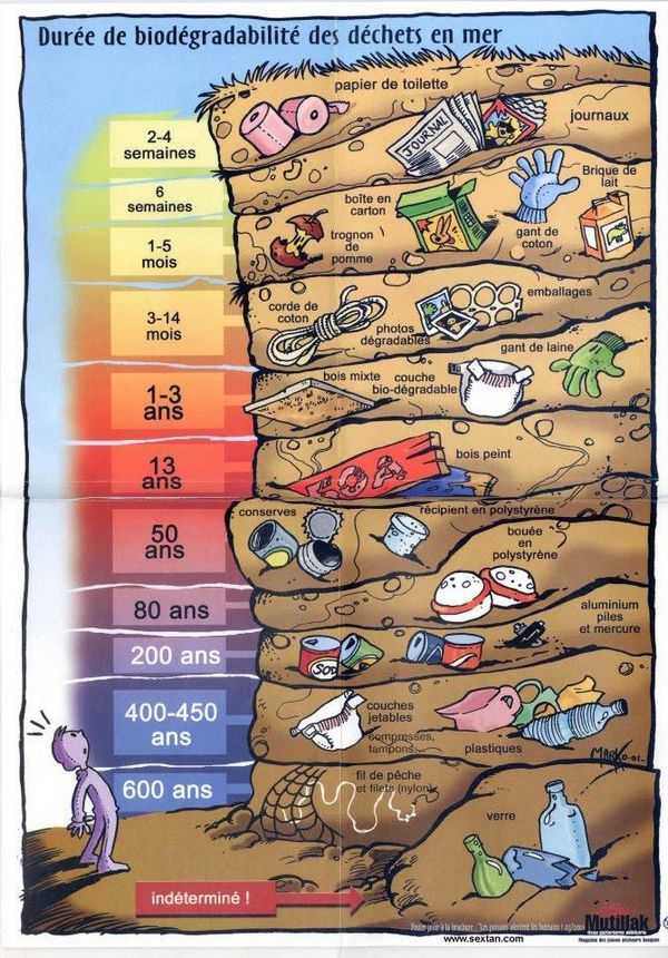 durée de biodégradabilité des produits en mer