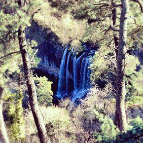 cascade de la Beaume vue d'en haut