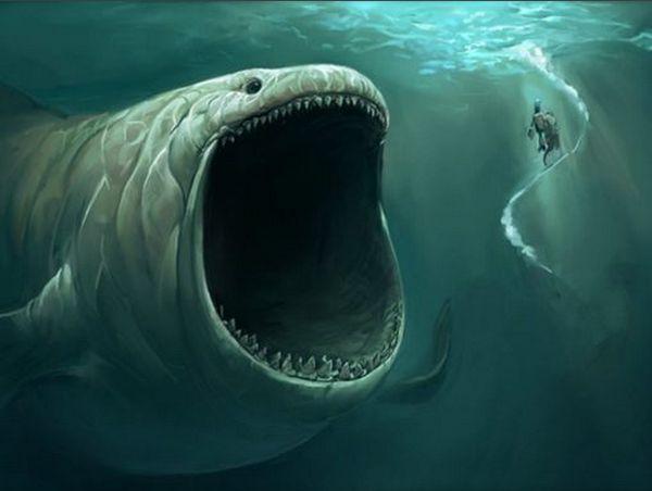 Giant water monster baleine requin