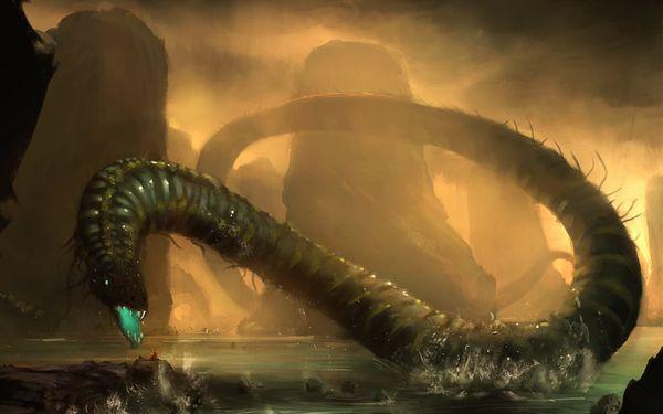 artwork monstre marin wtermonster snake water monster