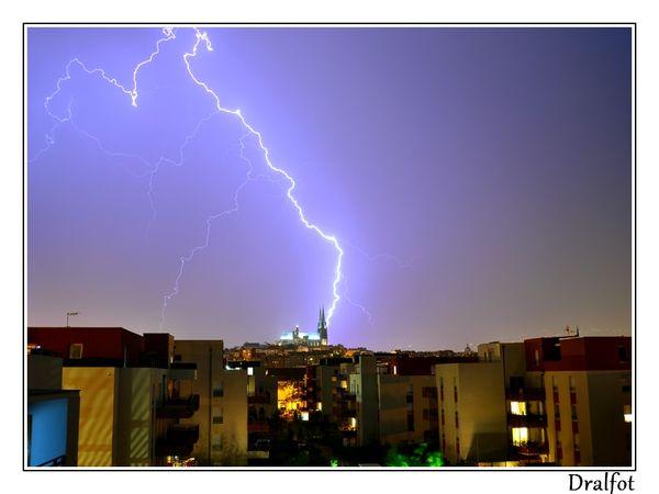 Cliché et vidéo de l'orage clermontois du 25 juillet 2013