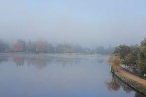 Vichy brume lac d'Allier