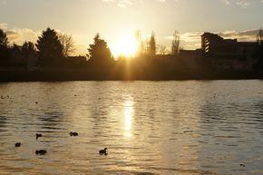 vichy allier lac couché de soleil