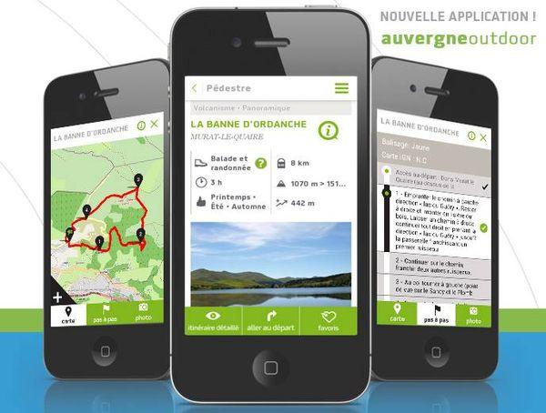 Auvergne Outdoor : l'application mobile pour vos rand'eau !