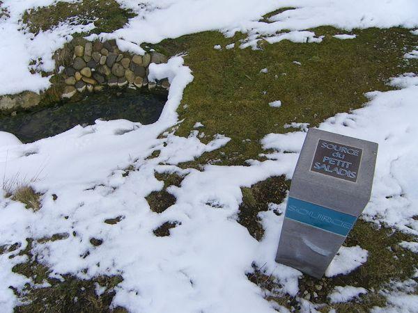 Les Sources du Saladis sous la neige