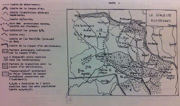 Carte patois auvergnat Pierre Bonnaud 600