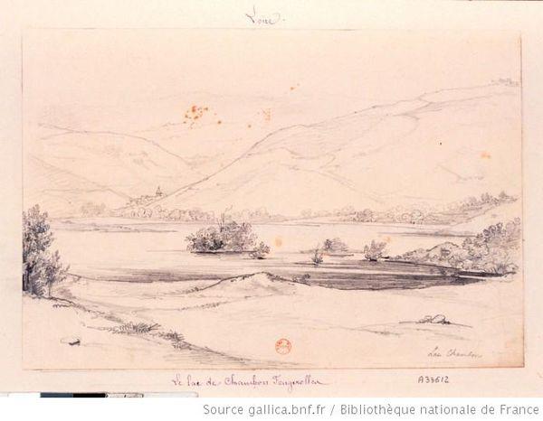 lac chambon dessin dessin Nicolas Marie Joseph Chapuy