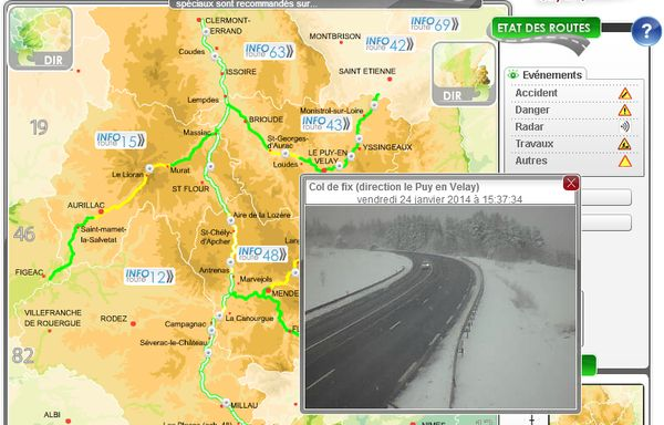 webcam dir route col de fix
