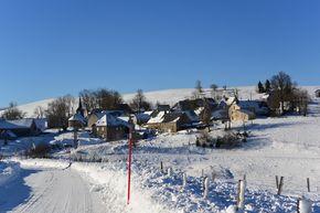 Village de la Godivelle enneigé 290