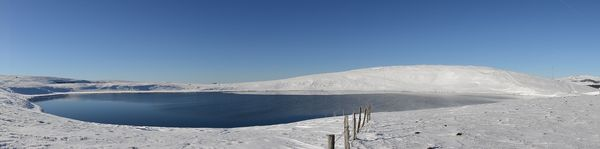 panorama lac d'En-Haut neige