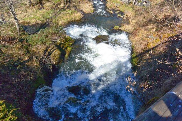 cascade de Montfermy vue d'en haut