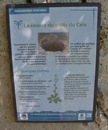 panneau source du puits de Ceix