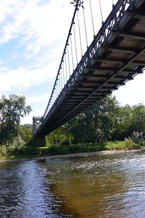 pont suspendu Coudes Allier 1