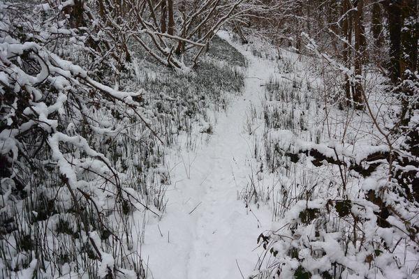 neige entre nohannent, Durtol et Chanat