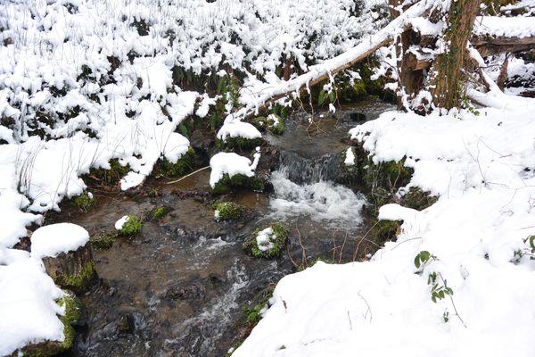 ruisseau des valettes neige