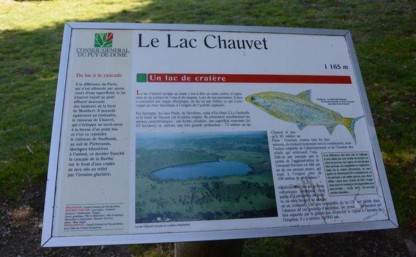 borne signalétique lac chauvet