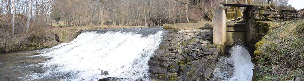 chute et réserve du moulin de Graveyroux