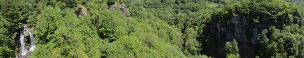 panorama Cascade de la Roucolle et Pas de Cère
