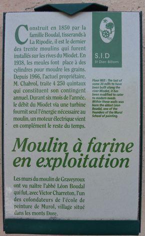signalétique moulin de Graveyroux