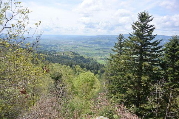 panorama du rocher de la volpie