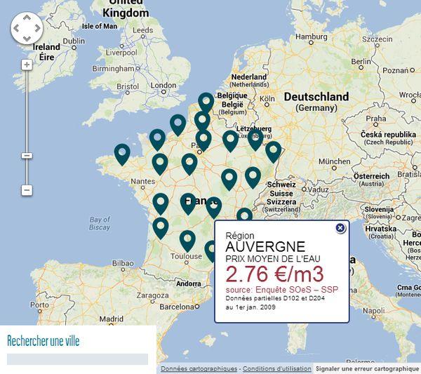 Une eau potable peu chère en Auvergne