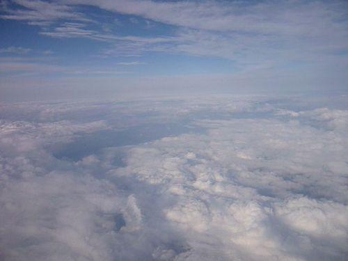 Mer de nuages au dessus de l'Auvergne