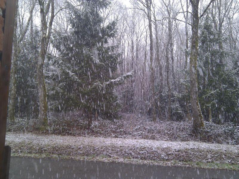 La neige est enfin là!