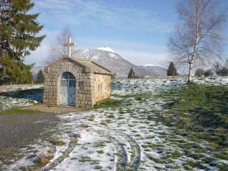 La chapelle Saint Aubin et la source de Chabana