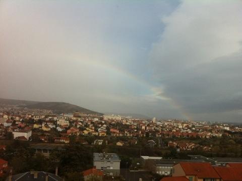 Petit arc en ciel au dessus de Clermont-Ferrand