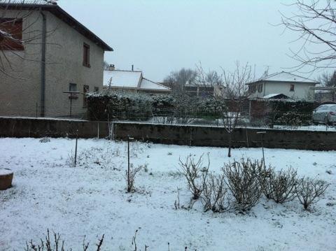 Petite couche de neige au réveil