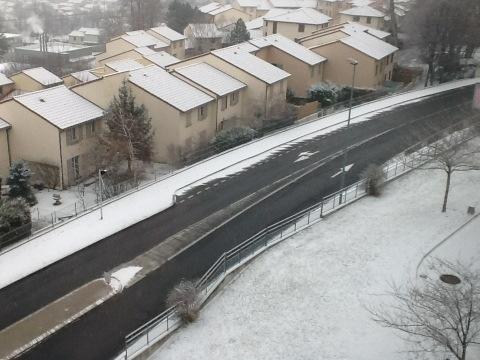 Routes glissantes sur l'agglomération clermontoise