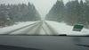 Vidéo des routes enneigées dans les environs du Col de la Moreno