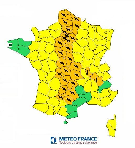 3 départements auvergnats en vigilance orange orages