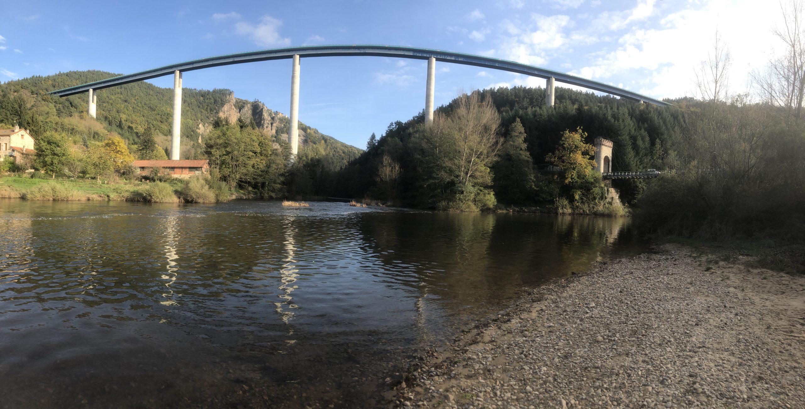 La confluence entre le Lignon et la Loire